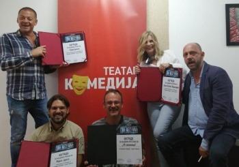 """Komediji"" i predstavi ""39 stepenica"" čak četiri nagrade na festivalu ""Gola mesečina"" u Skoplju!"